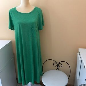 LuLaRoe Green Carly Dress